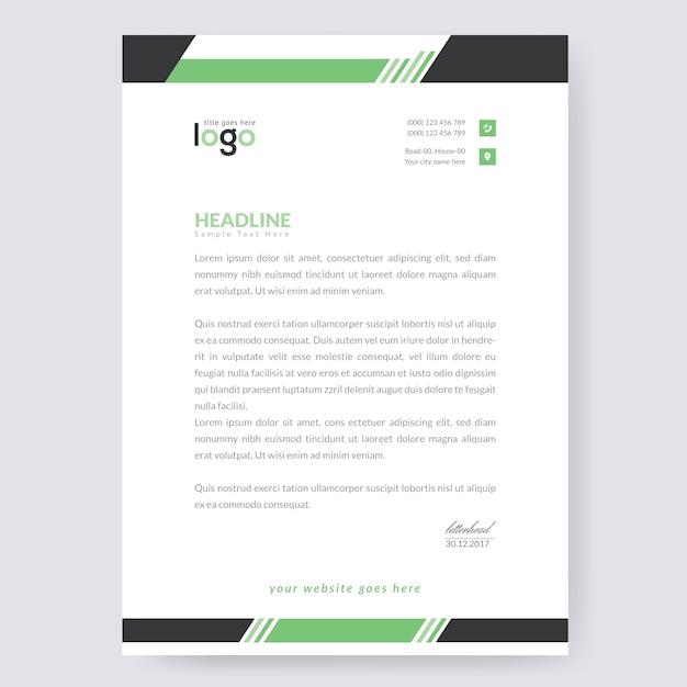 Modèle de papier à en-tête Vecteur Premium