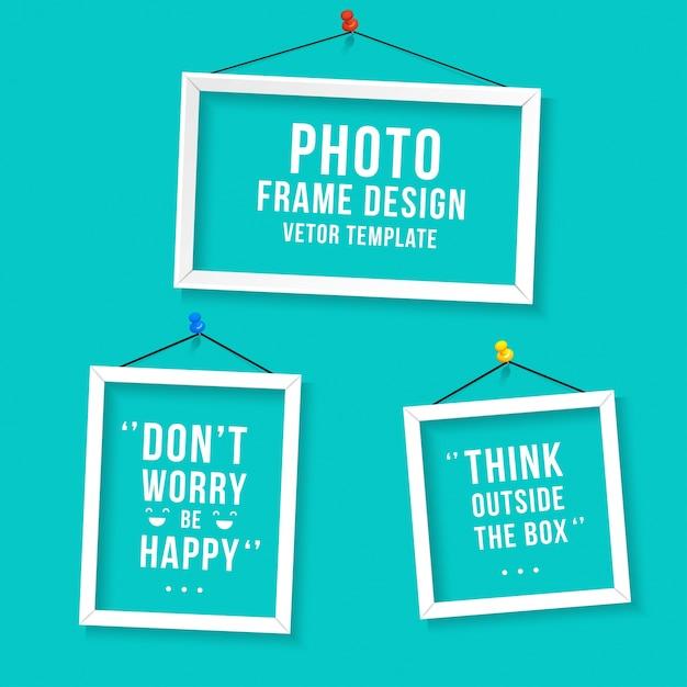 Modèle photo Frame Vecteur gratuit