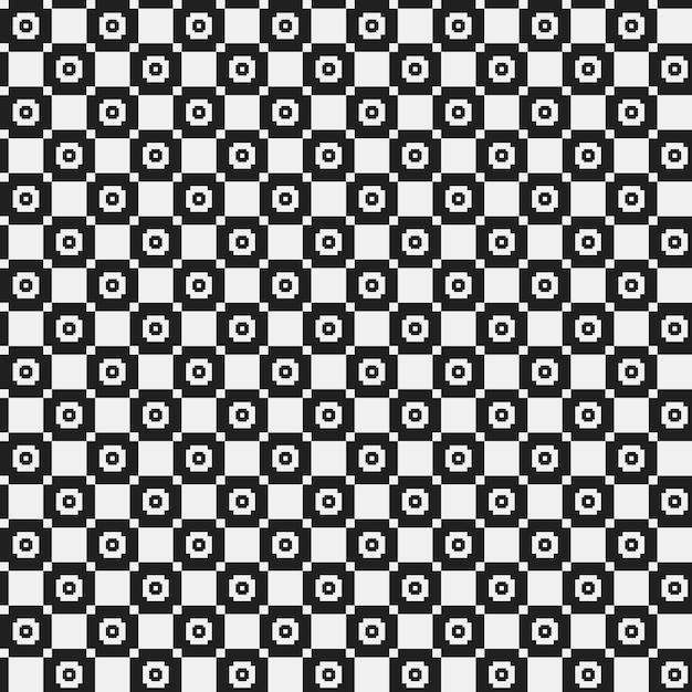 Modèle Pixel Simple Avec Des Formes Géométriques Monochromes
