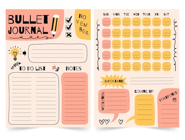 Modèle De Planificateur De Journal De Balle Vecteur Premium