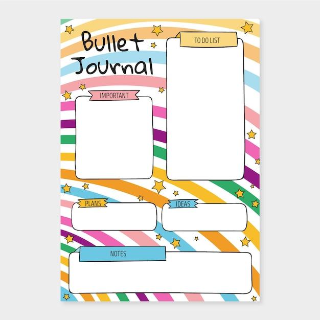 Modèle De Planificateur De Journal De Balle Vecteur gratuit