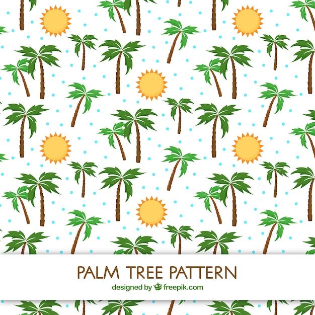 Modèle Plat De Soleils Et De Palmiers Vecteur gratuit