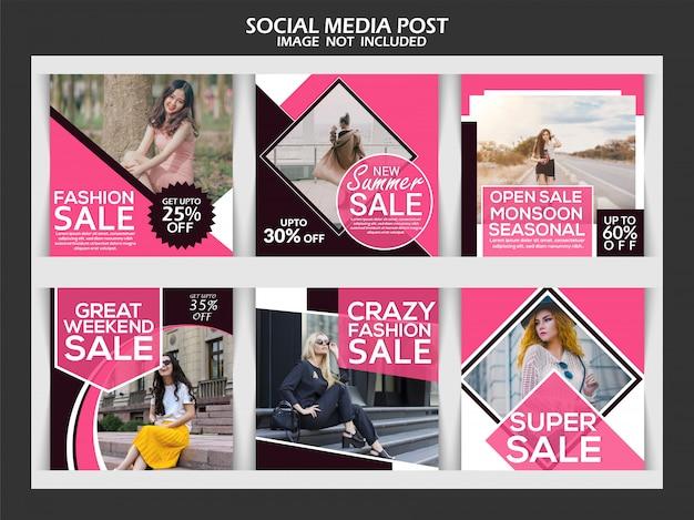 Modèle de post instagram créatif Vecteur Premium