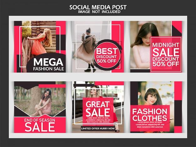 Modèle De Post Instagram De Mode Créative Vecteur Premium