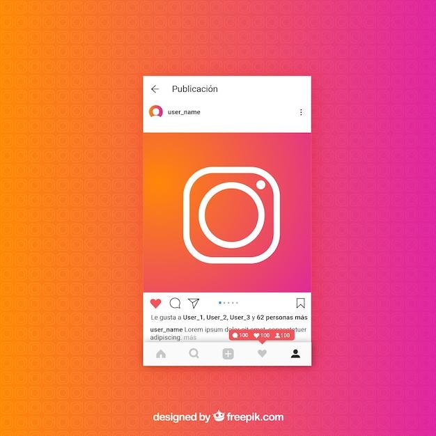 Modèle De Post Instagram Avec Notifications | Vecteur Gratuite
