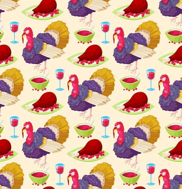 Modèle Pour Le Jour De Thanksgiving Vecteur Premium