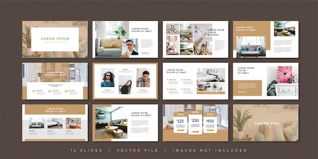 Modèle De Présentation De Diapositives Minimal Business. Vecteur Premium