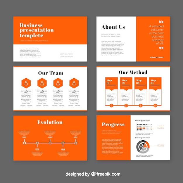 Modèle de présentation d'entreprise moderne Vecteur gratuit