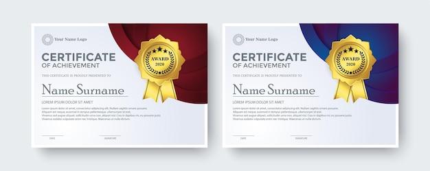 Modèle De Prix Du Meilleur Certificat Créatif Vecteur Premium