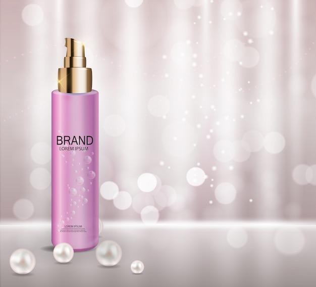 Modèle de produit cosmétique Vecteur Premium