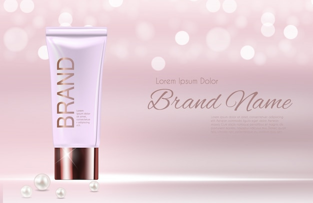 Modèle de produit design cosmetics Vecteur Premium