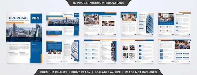 Modele De Proposition Commerciale Minimaliste Vecteur Premium