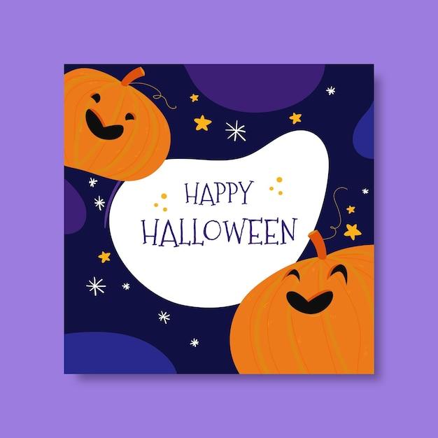 Modèle De Publication Instagram Joyeux Halloween Vecteur gratuit