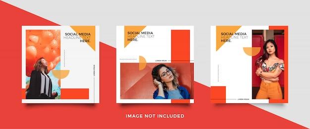 Modèle De Publication De Média Social Minimaliste Vecteur Premium