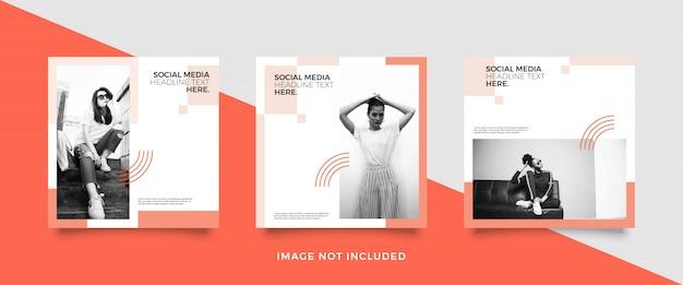 Modèle De Publication Minimaliste Sur Les Médias Sociaux Vecteur Premium