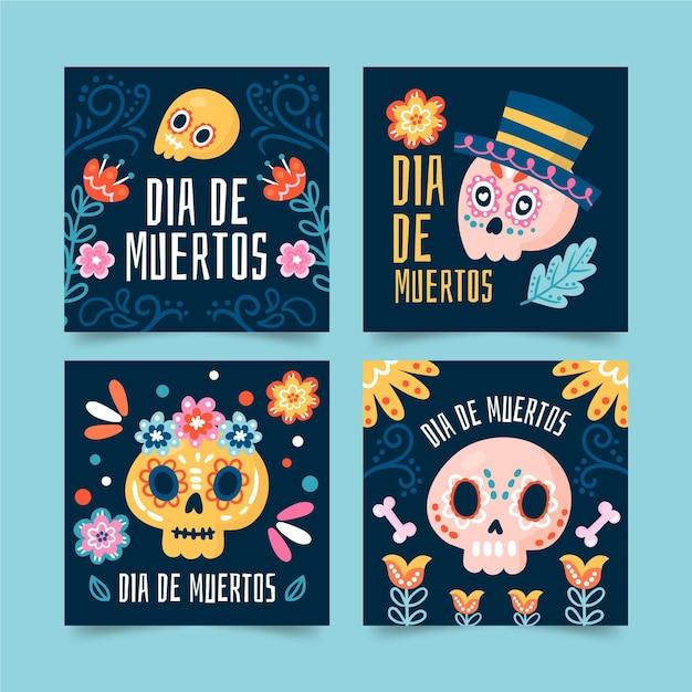Modèle De Publications Instagram Du Jour Des Morts Vecteur gratuit
