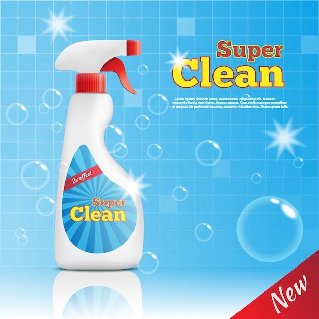 Modèle Publicitaire Super Cleaner Vecteur gratuit
