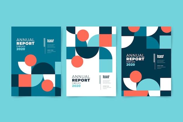 Modèle De Rapport Annuel Abstrait Coloré Vecteur gratuit