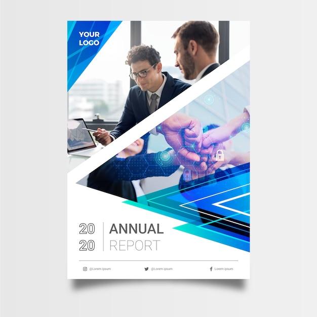 Modèle De Rapport Annuel Abstrait Pour Les Entreprises Vecteur gratuit