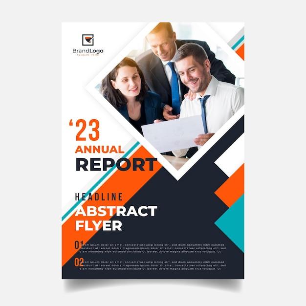 Modèle De Rapport Annuel Abstrait Vecteur gratuit