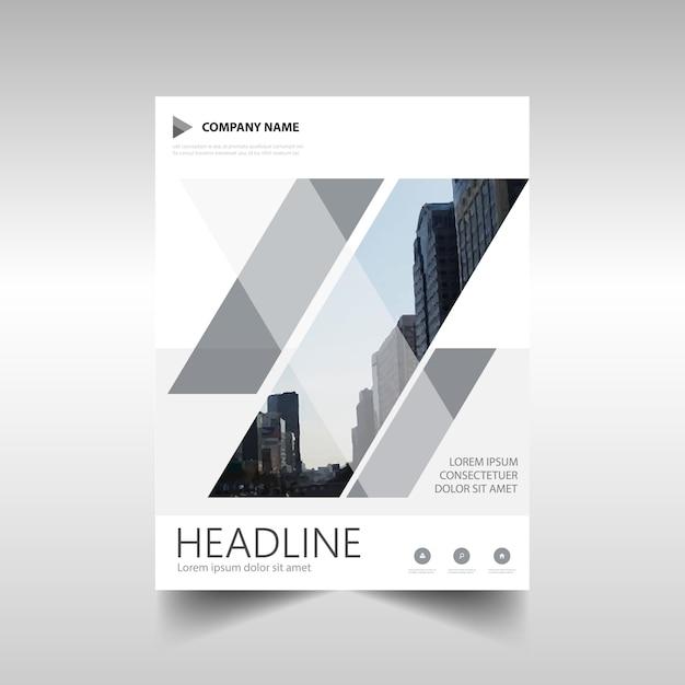 Modèle de rapport annuel créatif gris Vecteur gratuit