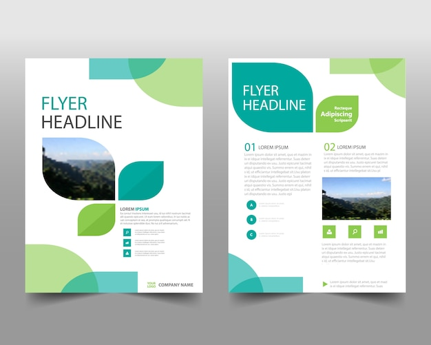 Modèle de rapport annuel créatif vert Vecteur gratuit