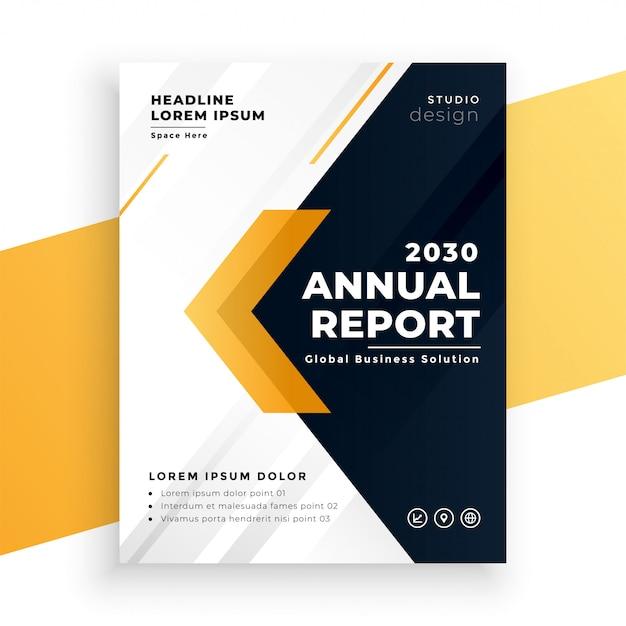 Modèle De Rapport Annuel D'entreprise Jaune élégant Vecteur gratuit