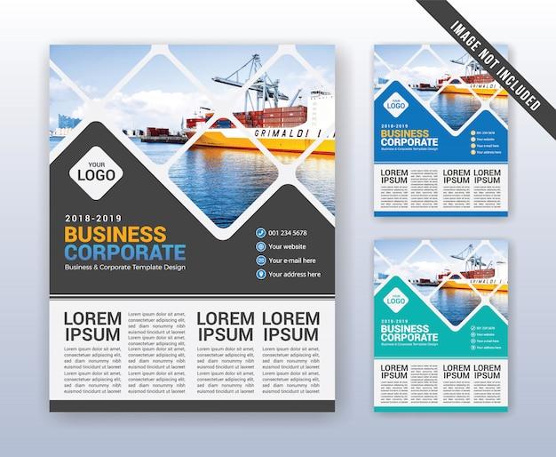 Modèle de rapport annuel d'entreprise moderne Vecteur Premium