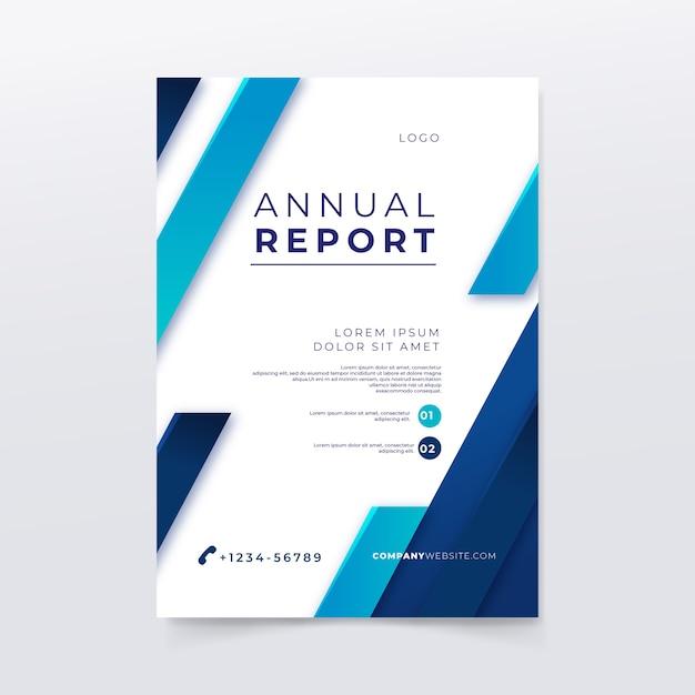 Modèle De Rapport Annuel Avec Lignes Et Couleurs Vecteur gratuit