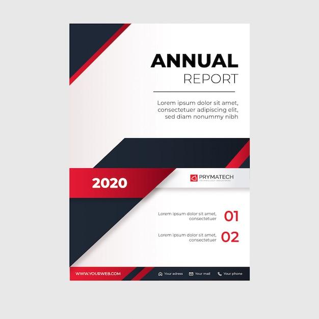 Modèle De Rapport Annuel Moderne Avec Des Formes Rouges Abstraites Vecteur gratuit