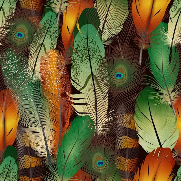 Modèle réaliste de plumes Vecteur gratuit