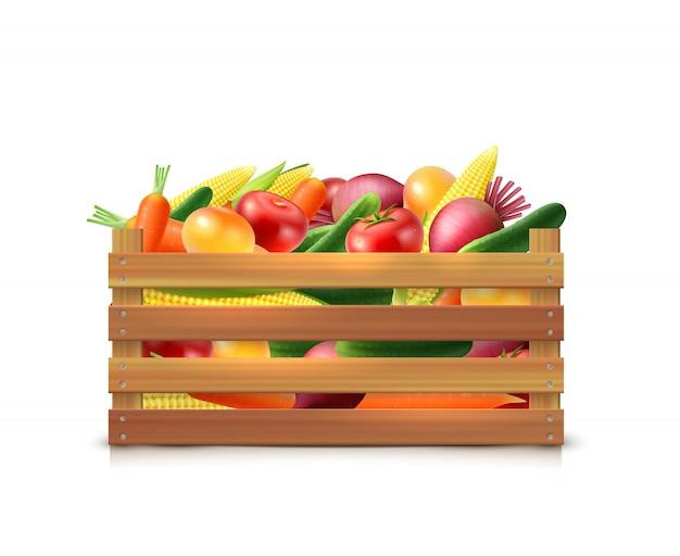 Modèle de récolte de légumes Vecteur gratuit
