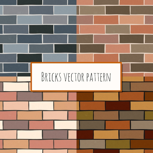 Modèle rectangulaire de mur de briques sans soudure Vecteur gratuit