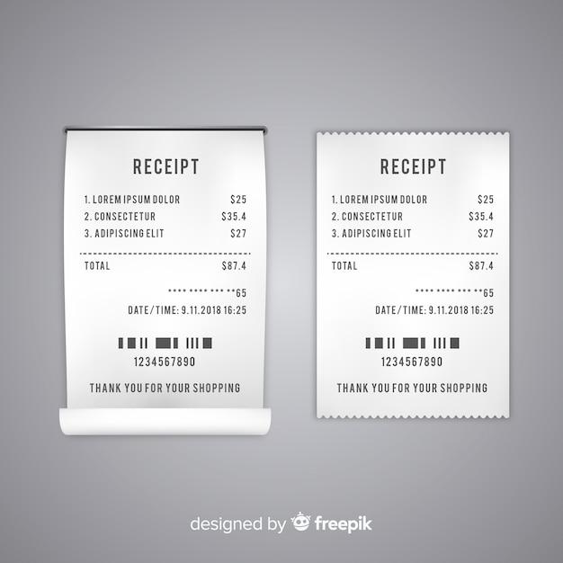 Modele De Recu De Paiement Avec Un Design Plat Vecteur Gratuite