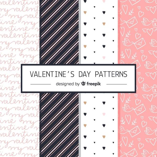 Modèle de saint valentin collectio Vecteur gratuit