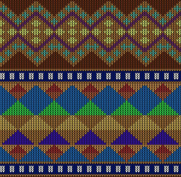 Modèle sans couture abstrait aztèque tribal Vecteur Premium