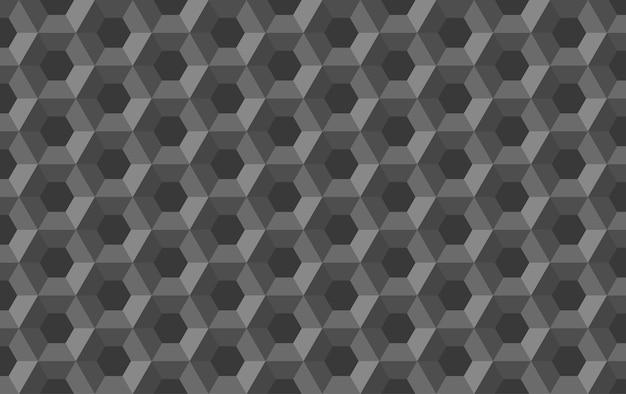 Modèle Sans Couture Abstrait Hexagone En Nid D'abeille Vecteur Premium