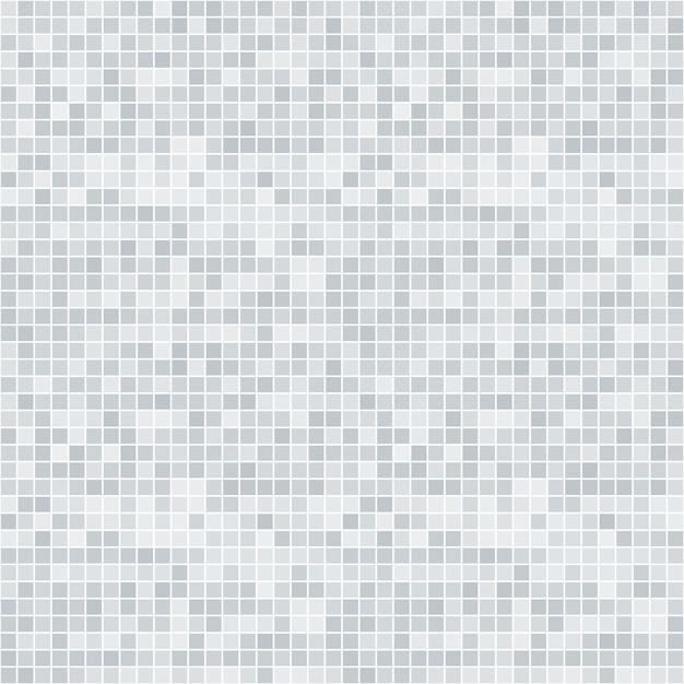 Modèle sans couture abstrait pixelisé en niveaux de gris Vecteur Premium