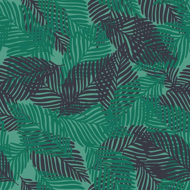 Modèle sans couture abstraite de plantes tropicales exotiques Vecteur Premium