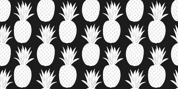 Modèle Sans Couture D'ananas. Vecteur gratuit
