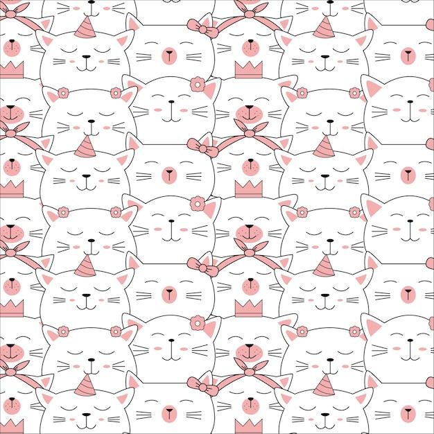Modèle sans couture animaux bébé mignon Vecteur Premium