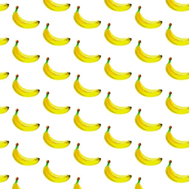 Modèle Sans Couture Aquarelle Avec Des Bananes. Dessiné à La Main Tropical. Illustration De Fruits D'été. Vecteur Premium