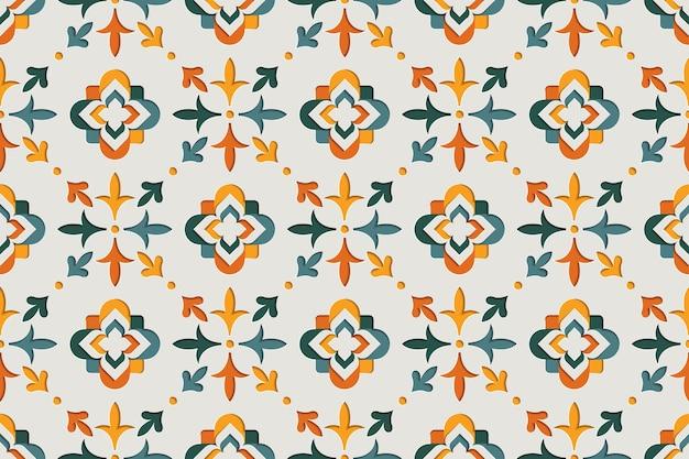 Modèle Sans Couture Arabesque Ornementale Orientale. Fond De Style Papier Motif Oriental Vecteur Premium