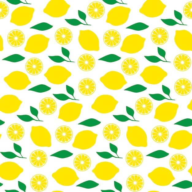 Modèle sans couture au citron Vecteur Premium