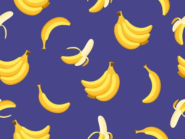 Modèle sans couture de bananes Vecteur Premium