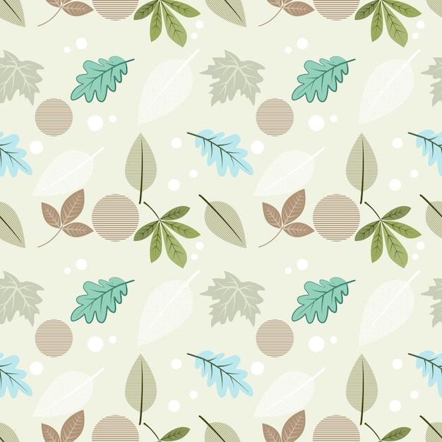 Modèle sans couture belle feuille pour papier peint textile tissu. Vecteur Premium