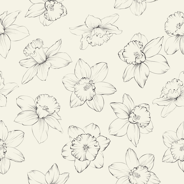 Modèle Sans Couture Botanique Vecteur gratuit