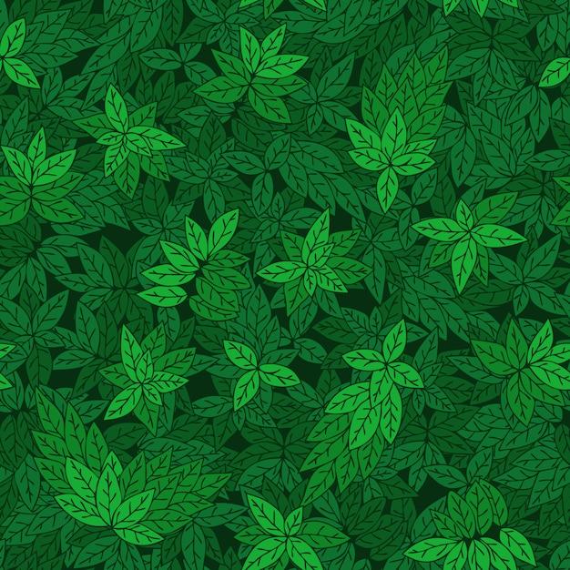 Modèle sans couture avec des branches vertes des arbres. Vecteur Premium