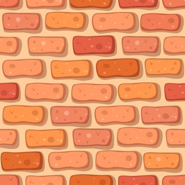Modèle sans couture de brique rouge de dessin animé   Télécharger des Vecteurs Premium