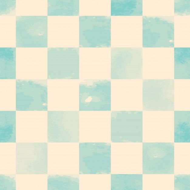 Modèle sans couture carré aquarelle bleu Vecteur Premium